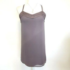 Naked Zebra Taupe Brown Mini Dress Size S